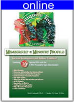 Combining 16 Spiritual Gifts w/4 (DISC) Personality Online Profile (approx. 70 pgs.) Expanded Version