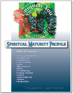 Personalizing My Faith Spiritual Maturity Profile