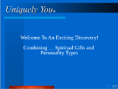 Online PowerPoint for Online Combination Spiritual Gifts and 4 DISC Personality Types reports