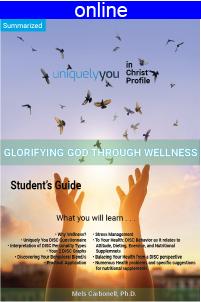Glorifying God Through Wellness Online Profile (approx. 34 printed pgs.) Summarized Version
